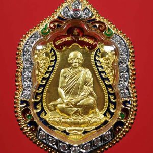 4172_เหรียญเสมาป๑๐๐ปีเกิด เนื้อทองคำ ลงยา_01